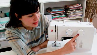 las partes de la maquina de coser
