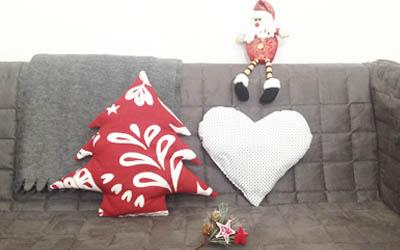 Cojín Corazón Cojín Árbol de Navidad